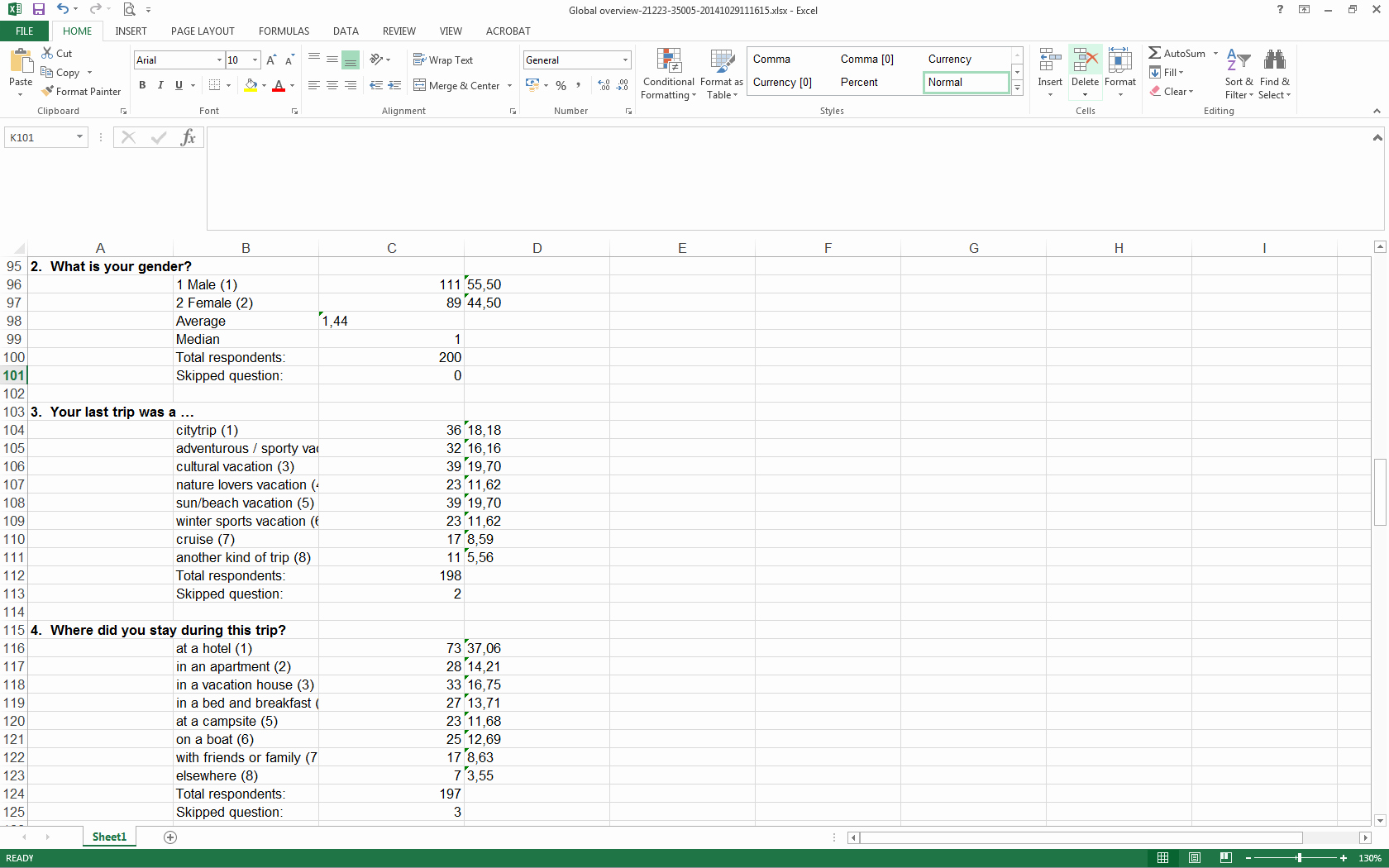 Survey Results Excel Template Luxury Analyze Your Survey Results In Excel Checkmarket