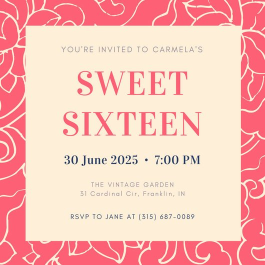 Sweet 16 Invitation Template Best Of Customize 545 Sweet 16 Invitation Templates Online Canva