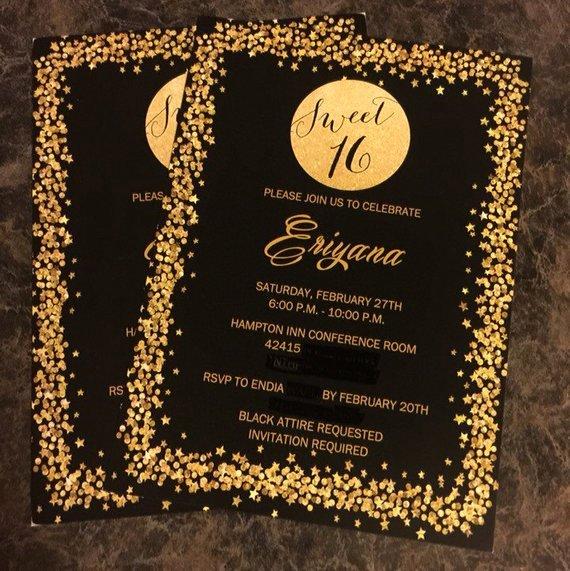 Sweet 16 Invitation Template Fresh Sweet Sixteen Invitation Sparkle Invitation 16th Birthday