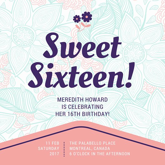 Sweet 16 Invitation Template Lovely Customize 545 Sweet 16 Invitation Templates Online Canva
