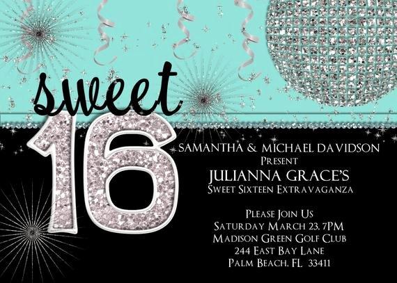 Sweet 16 Invitation Template Unique Sweet 16 Invitation Sweet Sixteen Birthday Invite