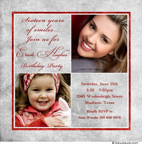 Sweet 16 Invite Template Awesome Sweet 16 Birthday Invitations Ideas Templates – Bagvania