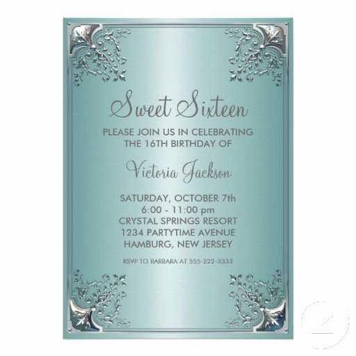 Sweet 16 Invite Template Elegant 1000 Images About Sweet 16 Invitation Templates On