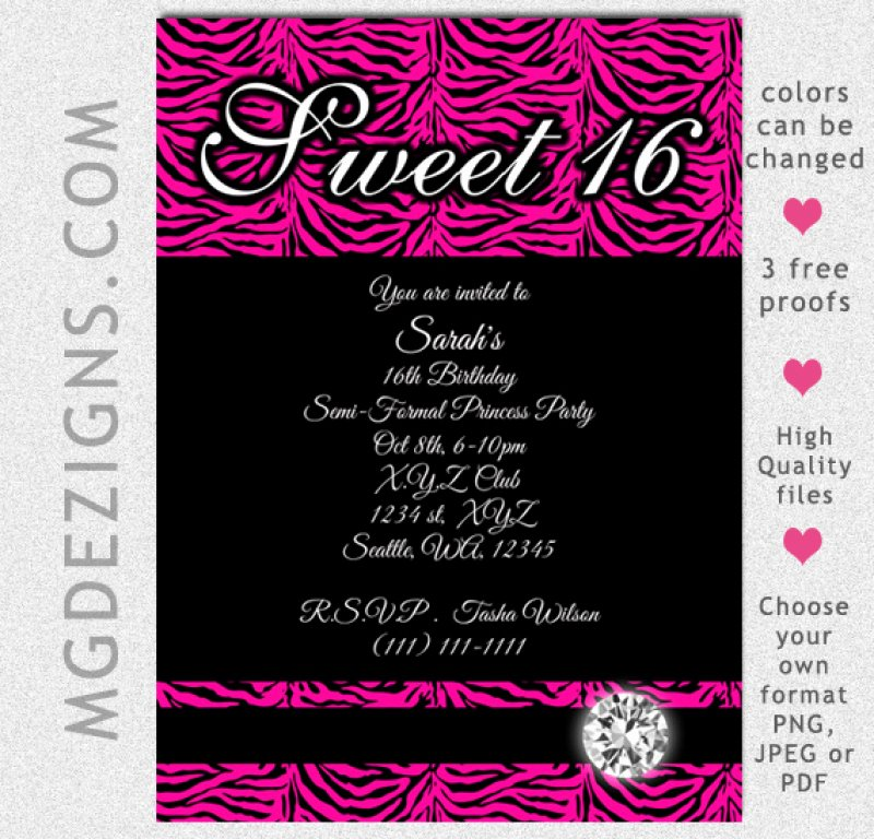 Sweet 16 Invite Template Fresh Free Sweet Sixteen Invitation Template – orderecigsjuicefo