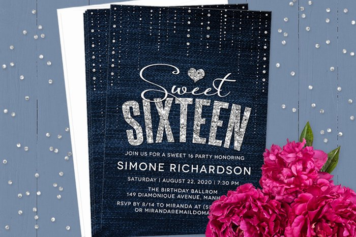 Sweet 16 Invite Template Fresh Sweet 16 Invitation Wording