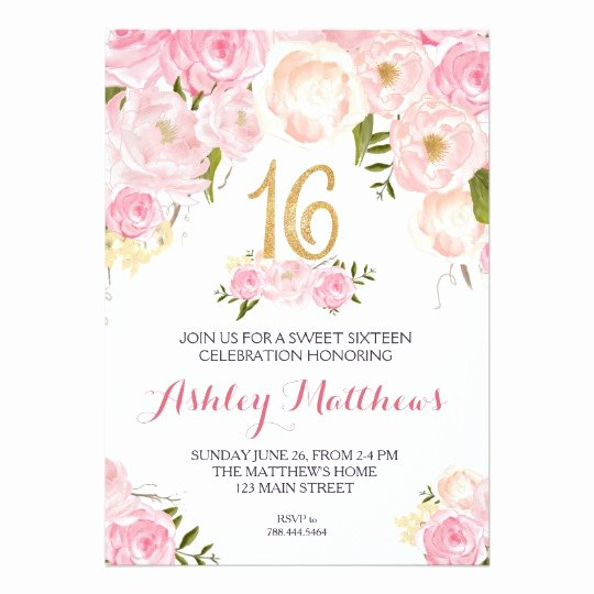 Sweet 16 Invite Template Luxury Free Sweet 16 Birthday Invitations – Free Printable