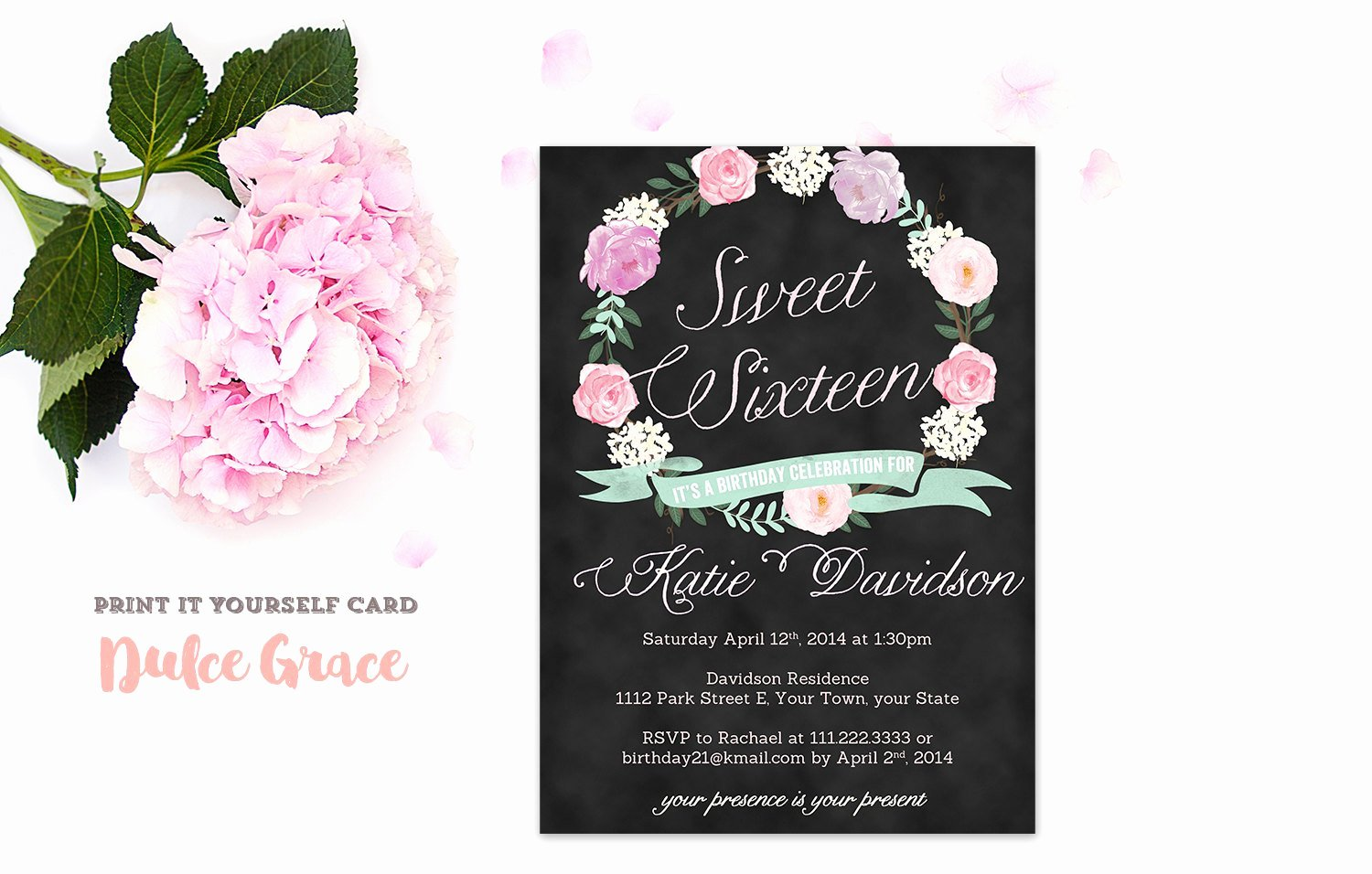 Sweet Sixteen Invitation Template Awesome Sweet Sixteen Invitations Sweet 16 Invitation Printable