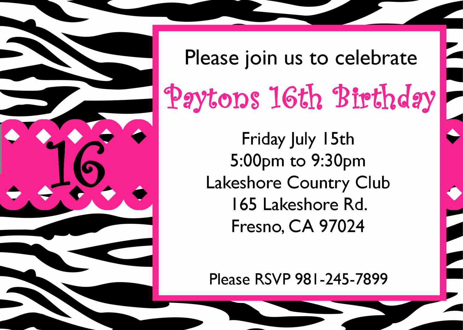 Sweet Sixteen Invitation Template Beautiful Free Sweet 16 Birthday Invitations Templates