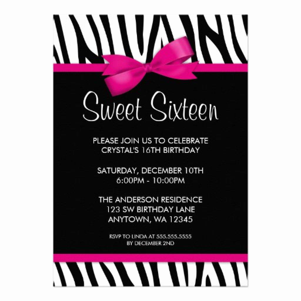 Sweet Sixteen Invitation Template Beautiful 16 Birthday Invitations Templates