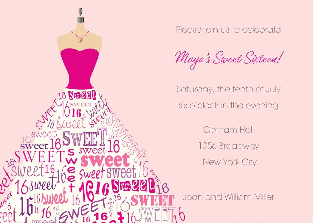 Sweet Sixteen Invitation Template Fresh Sweet 16 Invitation Templates Free