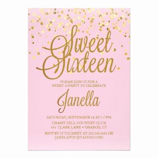 Sweet Sixteen Invitation Template Inspirational Best 25 Sweet 16 Invitations Ideas On Pinterest