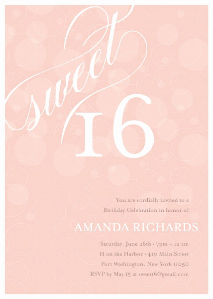Sweet Sixteen Invitation Template Lovely 8 Best Of Sweet 16 Invitation Templates Printable