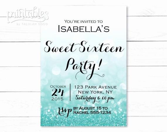 Sweet Sixteen Invitation Template Luxury Sweet Sixteen Invitation Template Digital Sweet 16 Invitation