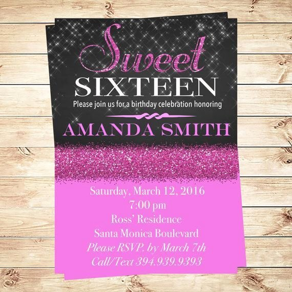 Sweet Sixteen Invitation Template Unique Elegant Sweet 16 Invitation Templates Templates Resume