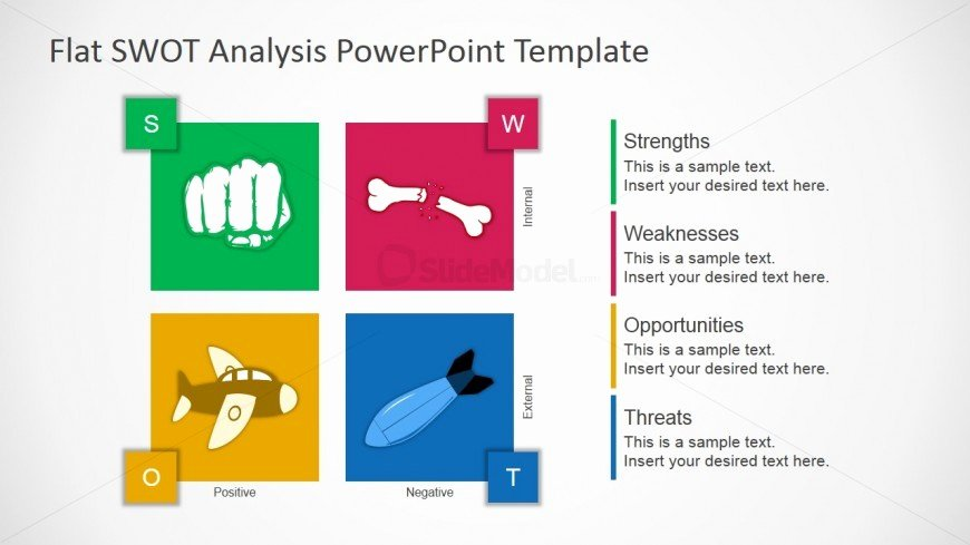 Swot Analysis Ppt Template Awesome Flat Design Free Swot Presentation Template Slidemodel
