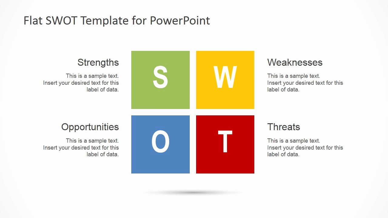 Swot Analysis Ppt Template Awesome Flat Swot Analysis Design for Powerpoint Slidemodel