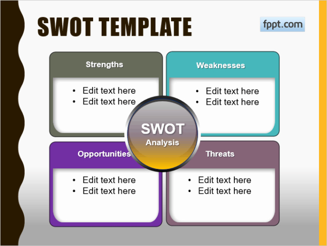 Swot Analysis Ppt Template New 20 Creative Swot Analysis Templates Word Excel Ppt and
