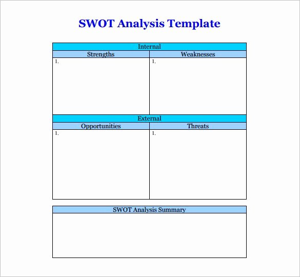 Swot Analysis Template Doc New 45 Swot Analysis Template Word Excel Pdf Ppt