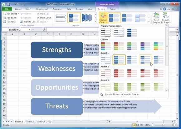 Swot Analysis Template Excel Beautiful How to Create A Swot Analysis