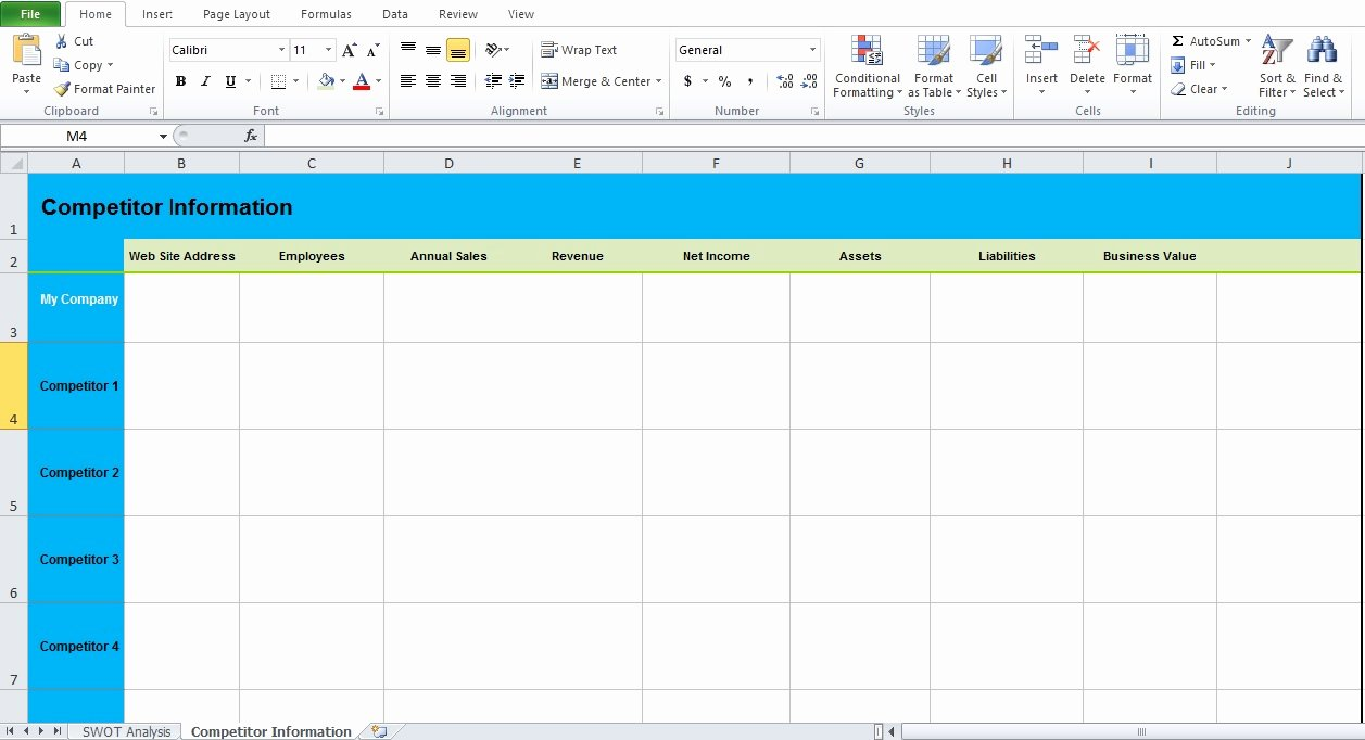 Swot Analysis Template Excel Fresh Get Swot Analysis Template Excel Excel Tmp