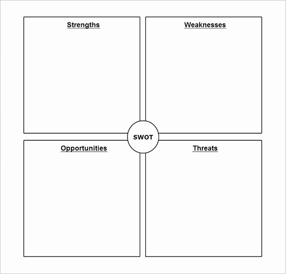 Swot Analysis Template Word Lovely 45 Swot Analysis Template Word Excel Pdf Ppt
