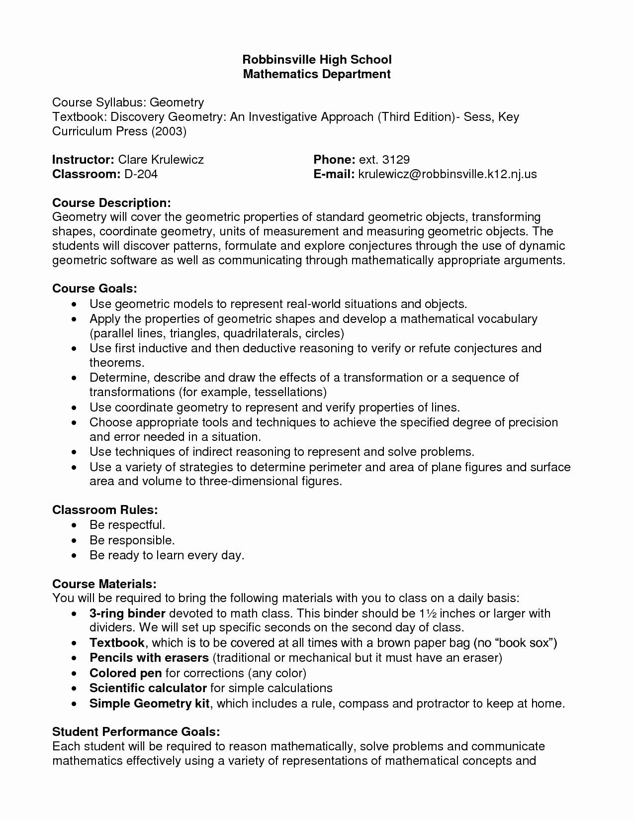 Syllabus Template High School Awesome 10 Best Of High School History Syllabus Template