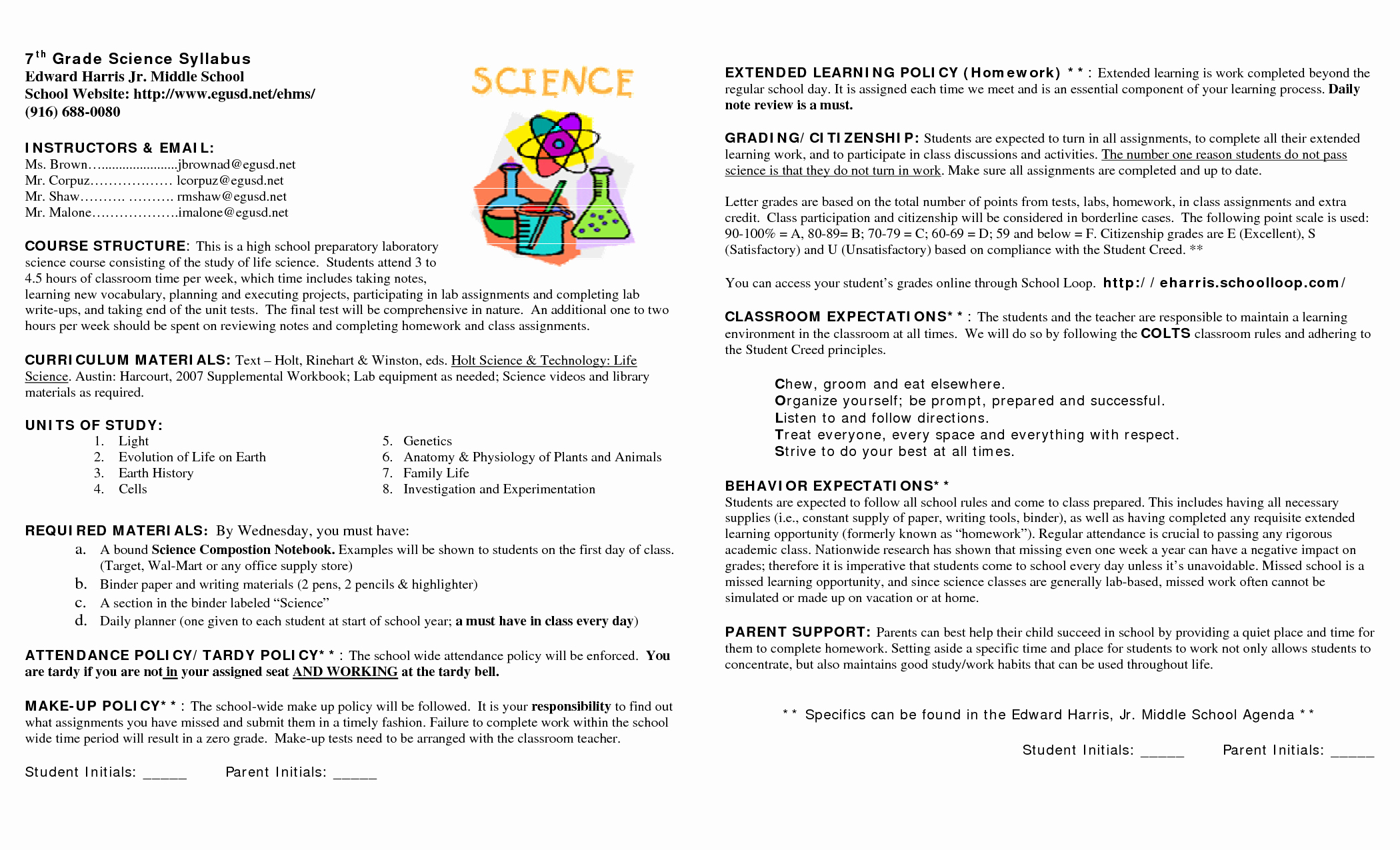 Syllabus Template High School Awesome 15 Awesome Syllabus Template for Middle School Images