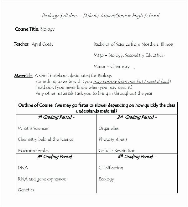 Syllabus Template High School Inspirational Line Course Syllabus Template Intermediate oral Skills