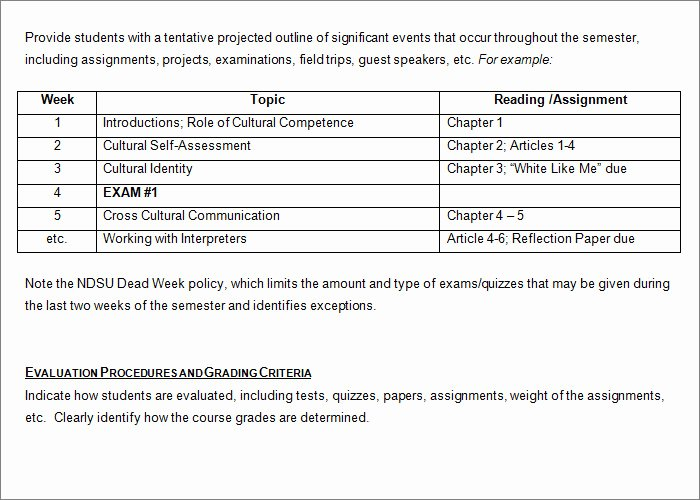 Syllabus Template High School Lovely Syllabus Template Free Templates