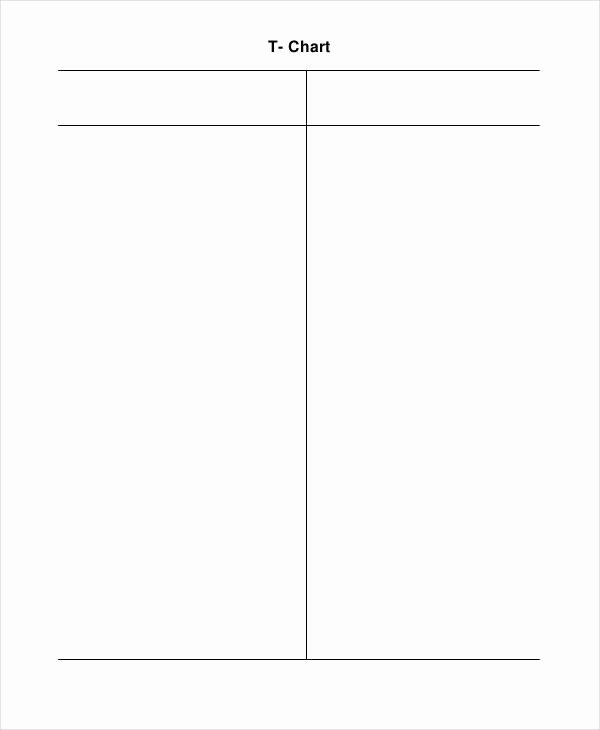 T Chart Template Pdf Awesome T Chart Template