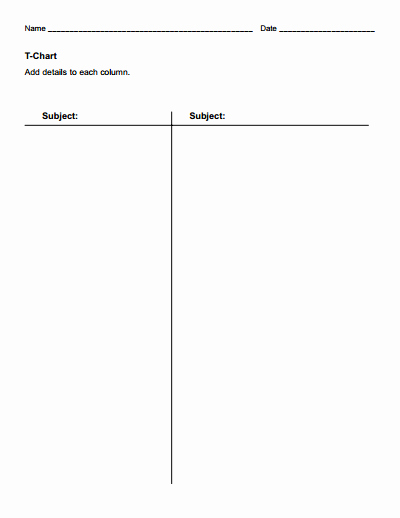 T Chart Template Pdf Best Of T Chart Template Free Download Create Edit Fill and
