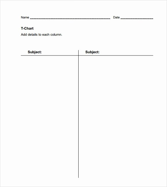 T Chart Template Pdf Fresh Sample T Chart Template 7 Documents In Pdf Word