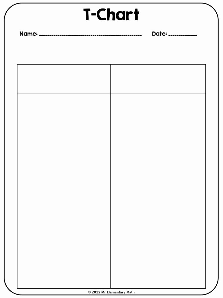 T Chart Template Pdf Fresh Use This 2 Column T Chart to Students to Take Notes In