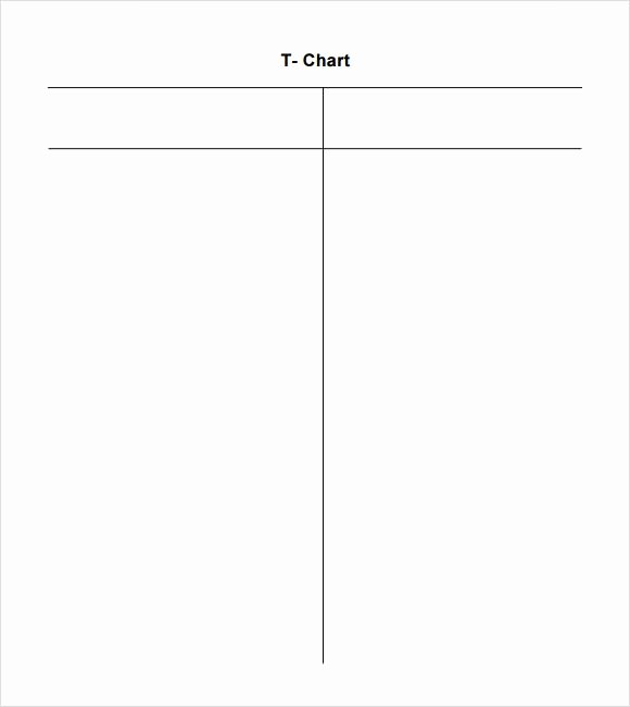 T Chart Template Pdf Inspirational Sample T Chart Template 7 Documents In Pdf Word