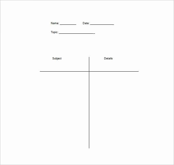 T Chart Template Pdf Lovely Think Pair Tchart Worksheet – Free