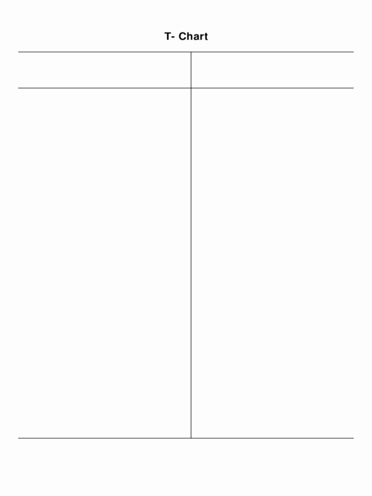 T Chart Template Word Elegant Chart T Chart Template