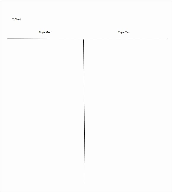 T Chart Template Word Lovely Sample T Chart Template 7 Documents In Pdf Word