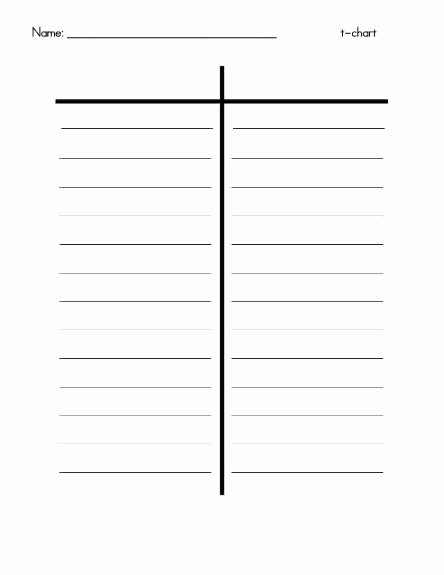 T Chart Template Word Unique 30 Printable T Chart Templates & Examples Template Archive