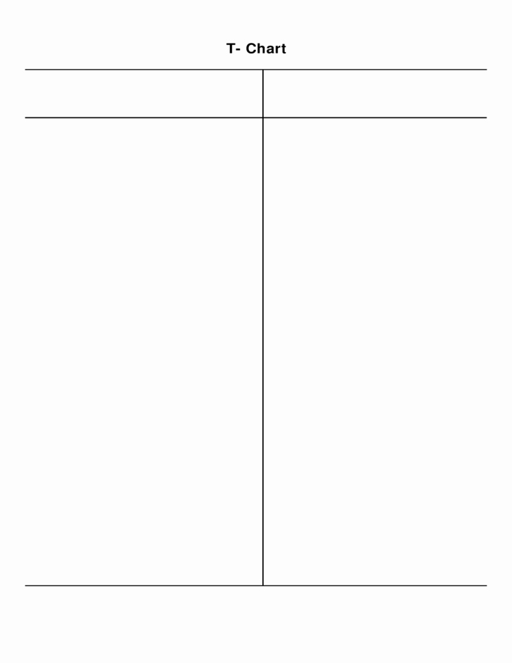 T Chart Template Word Unique Simple T Chart Free Download