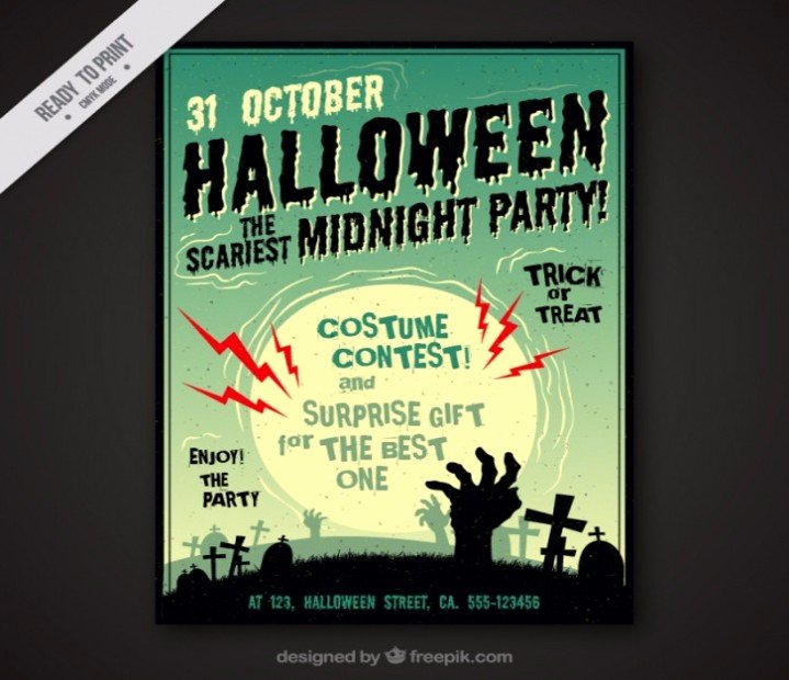 T Shirt Flyer Template Best Of Halloween Costume Contest Flyer Template Answerlytics