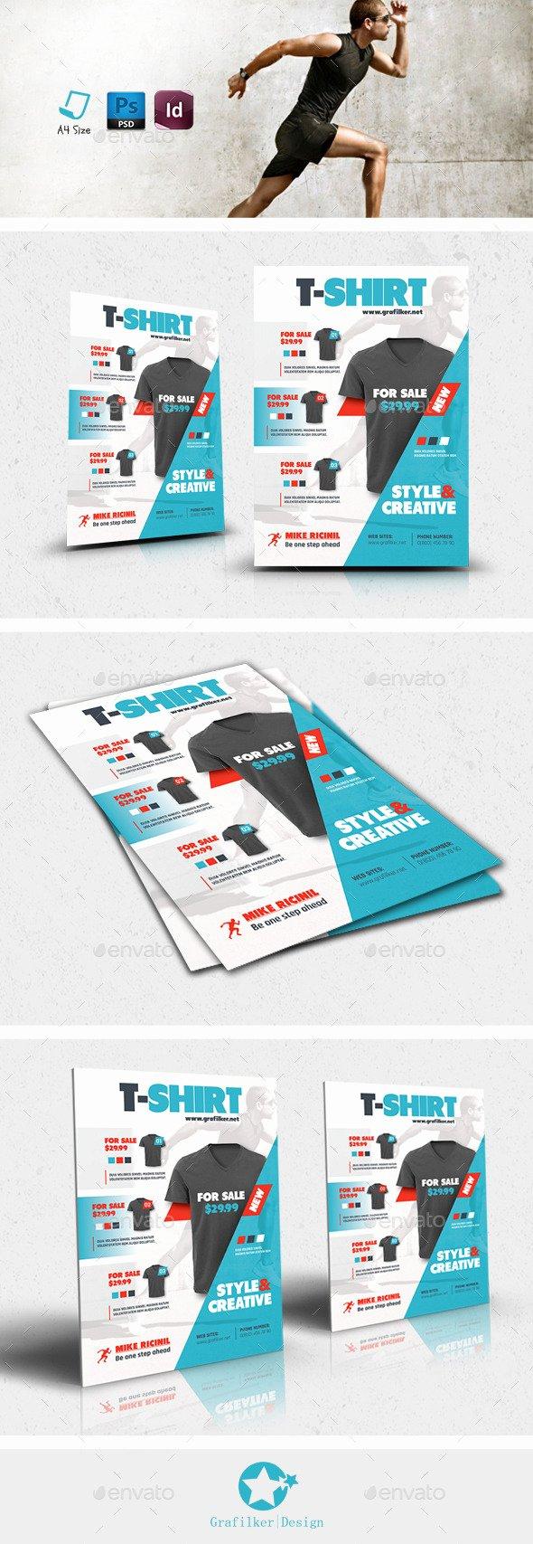 T Shirt Flyer Template Fresh T Shirt Flyer Templates by Grafilker02