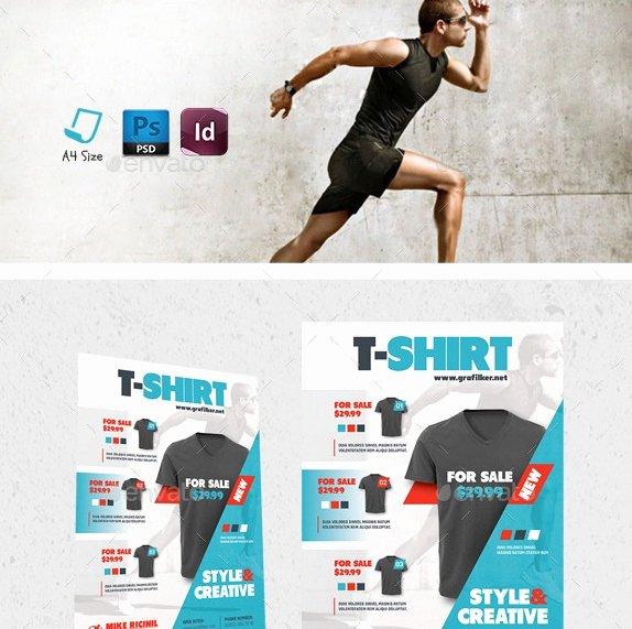 T Shirt Flyer Template Inspirational 20 Cool T Shirt Template Psds & Vectors