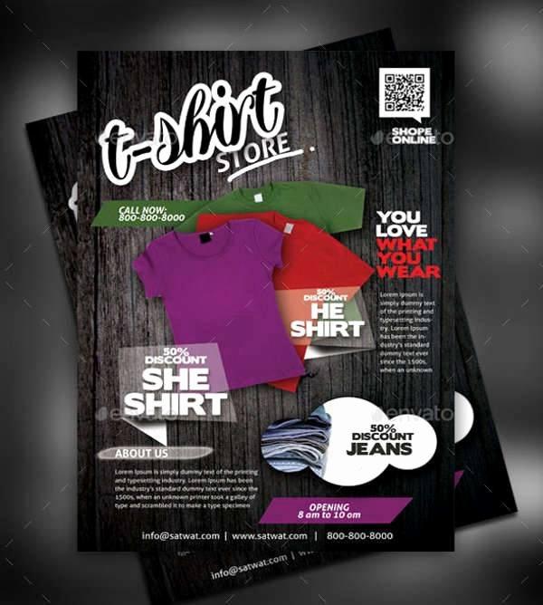 T Shirt Flyer Template Inspirational 30 T Shirt Design Templates Psd Eps Ai Vector