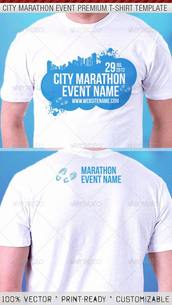 T Shirt Flyer Template Inspirational City Marathon event Premium T Shirt Template