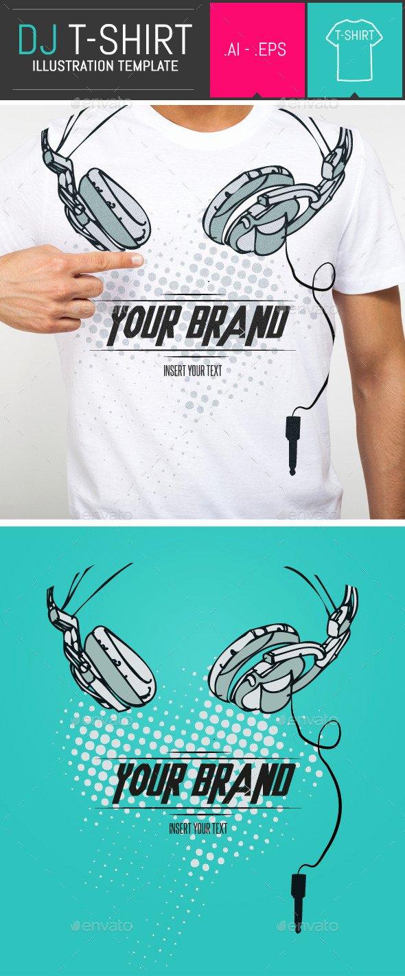 T Shirt Flyer Template Inspirational T Shirt Graphicriver Dj Headphones T Shirt Vector