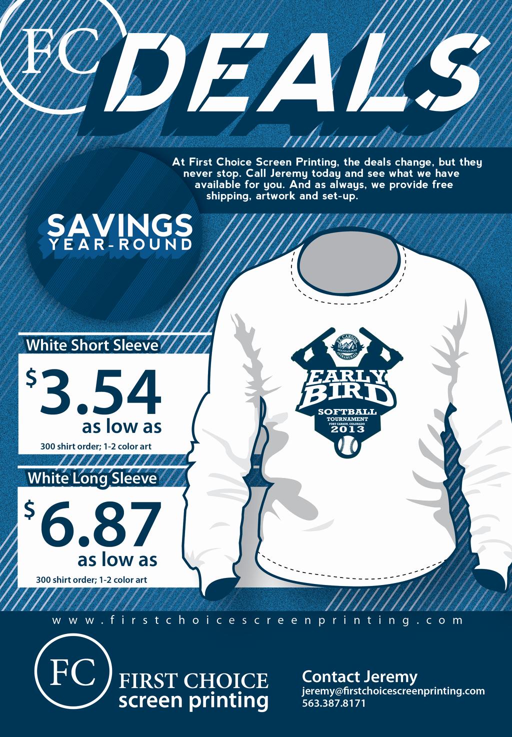 T Shirt Flyer Template Luxury First Choice Screen Printing Flyer by Cbmatt8 On Deviantart