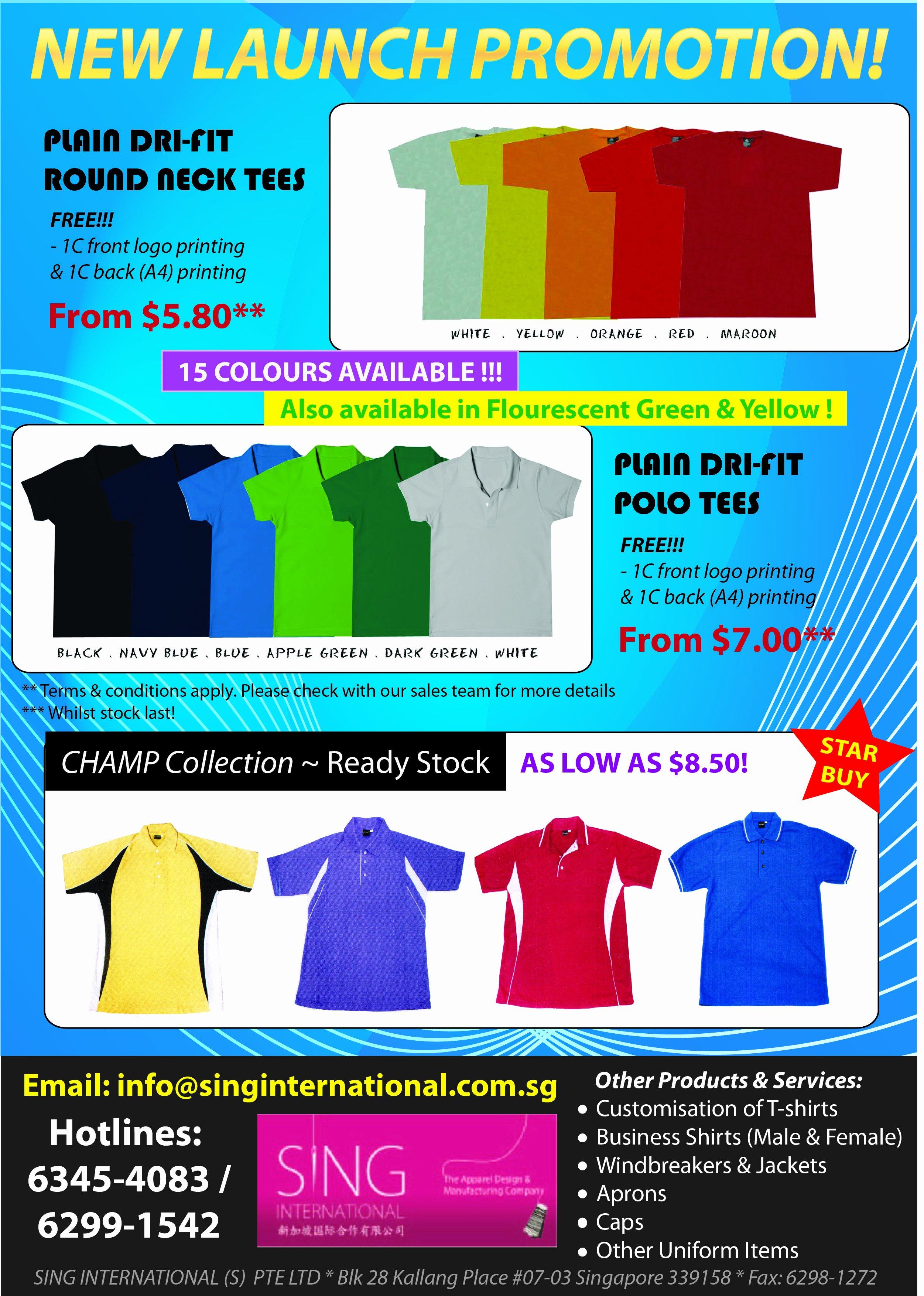 T Shirt Flyer Template New Sing International S Pte Ltd