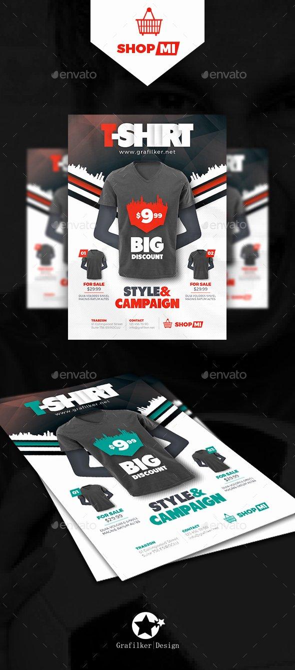 T Shirt Flyer Template New T Shirt Flyer Templates by Grafilker