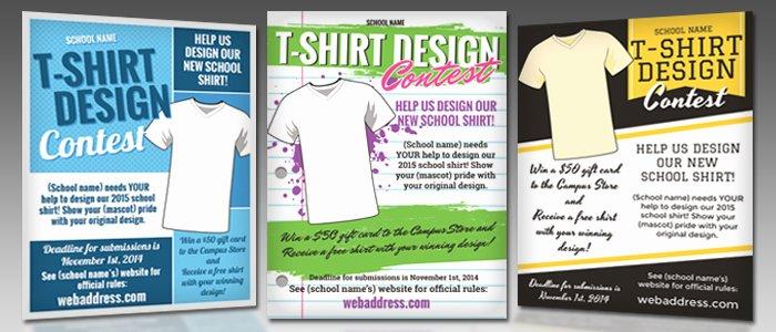 T Shirt Flyer Template Unique T Shirt Design Contest Maketing Flyers