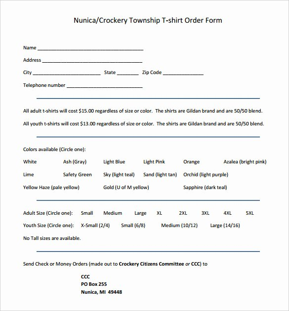 T Shirt form Template Best Of 26 T Shirt order form Templates Pdf Doc